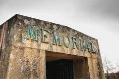 详述受难者的纪念品的看法 图库摄影