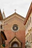 详述城市Senigallia建筑学  大教堂 免版税库存图片
