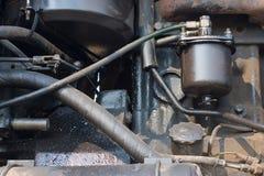 详述柴油引擎马达 库存照片