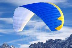详述滑翔伞翼 库存图片