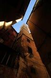详述热那亚街道 库存照片