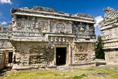 详述玛雅废墟 免版税库存照片
