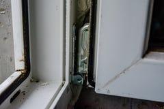 详述现代窗口PVC外形的照片 库存照片