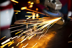 详述的焊接宏指令 库存照片
