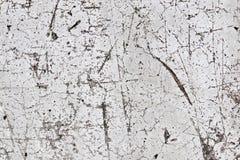 详述紧密有有些镇压的一个被构造的混凝土墙 免版税库存图片