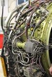 详述航空器喷气机引擎 免版税库存图片