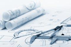 详述行业计划 免版税库存照片