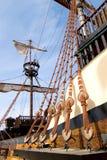 详述被塑造的老船 库存照片