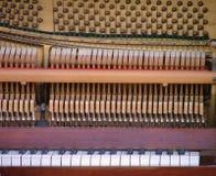 详述钢琴 免版税库存图片