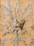 详述从金黄交谊厅的手工制造针线从多彩在从18 分 在宫殿圣徒蚂蚁 库存照片