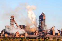 详述Saldanha钢设施看法,拥有由ArcelorMittal南非 库存照片