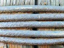 详细片段金属铁锈生锈的表面纹理 图库摄影