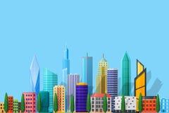 详细的平的城市 免版税图库摄影