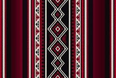 详细的红色传统伙计Sadu阿拉伯手编织的样式 免版税库存图片