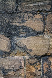 详细的老砂岩墙壁 库存照片