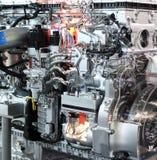详细资料引擎重型卡车 免版税库存图片
