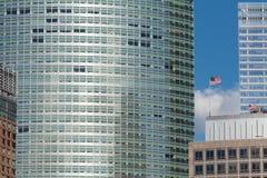 详细资料标志摩天大楼我们 图库摄影