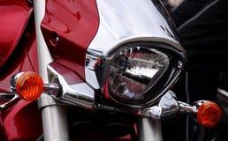 详细资料车灯户外摩托车摩托车分开 免版税图库摄影