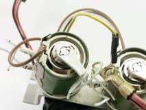 详细陶瓷可变电阻器特写镜头 库存照片