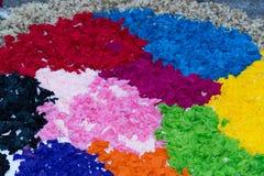 语科库domini christi庆祝的瓣和花地毯 库存照片