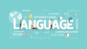 语言例证概念 库存例证