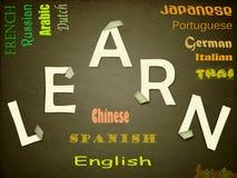 语言学习 免版税库存照片