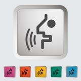 语音识别按钮。 库存例证