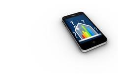 误码率在智能手机屏幕上的规定值房子 库存例证