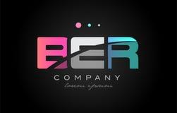 误码率b e r三信件商标象设计 库存例证