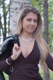 诱人白肤金发的女孩 免版税库存图片