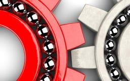 说明小组工作的齿轮轴承 免版税图库摄影