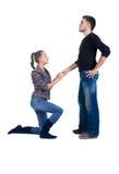 说明爱做人对妇女年轻人 免版税库存照片