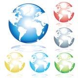 说明的地球 免版税库存图片