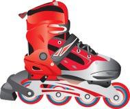 说明的直排轮式溜冰鞋冰鞋 免版税库存图片
