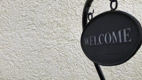 说的标志'欢迎' 股票录像