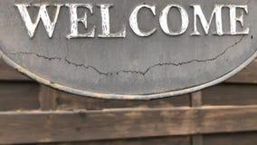 说的标志'欢迎' 影视素材