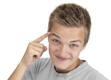 说青少年认为 免版税库存照片