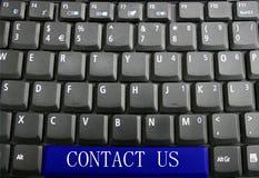请与关键董事会联系我们 免版税图库摄影