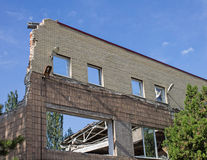 请与壳联系入一个房子在顿涅茨克 免版税图库摄影
