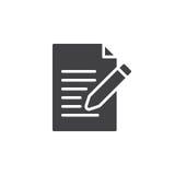 请与形式象传染媒介联系,写,编辑被填装的平的标志 图库摄影