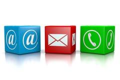 请与邮件联系给我们打电话 皇族释放例证