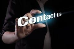 请与邮件联系给我们打电话 免版税图库摄影