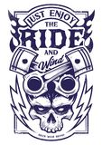 请享受乘驾传染媒介骑自行车的人艺术 免版税库存图片
