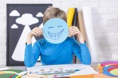 请微笑并且获得乐趣 库存图片
