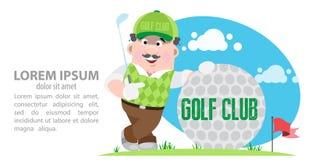请检查俱乐部高尔夫球例证更多我投资组合炫耀 免版税库存照片