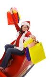 请求克劳斯shopping夫人 免版税库存图片
