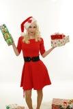 请求圣诞老人妇女 库存照片