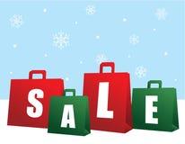 请求圣诞节销售额购物 库存图片