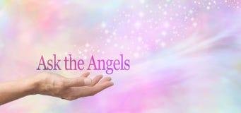 请求天使帮忙 免版税库存照片