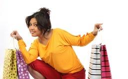 请求少年女孩的购物 免版税库存照片